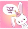 Happy Birthday card with a bunny vector image vector image