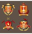 Heraldic Premium Realistic Emblems Set vector image vector image