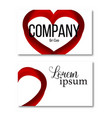 icon heart design element with business vector image vector image