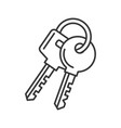 keys icon on white background line style vector image vector image