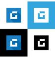 letter g logo square shape icon flat design vector image vector image