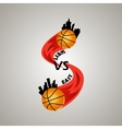logo for a basketball team vector image vector image