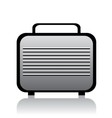 Metal briefcase vector image