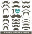 Moustaches set vector image vector image
