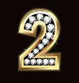 Number one bling gold and diamonds vector image vector image