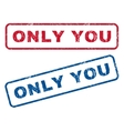 Only You Rubber Stamps vector image vector image