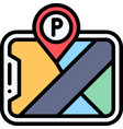 parking application icon parking lot related vector image vector image