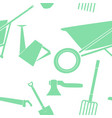 pattern composed of garden equipment 2 vector image