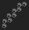paw print icon in line style dog or cat pawprint vector image vector image