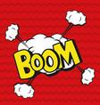 pop art boom explosion cartoons vector image