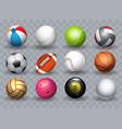 realistic sports balls vector image