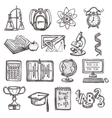 School education sketch icons vector image vector image
