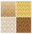 seamless damask pattern set vector image vector image