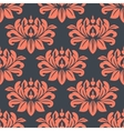 Seamless red peony flowers pattern vector image vector image