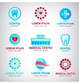 set abstract medical icons vector image vector image