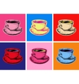 Set Coffee Mug Pop Art Style vector image vector image