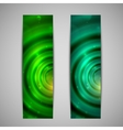 set of abstract green glowing banners vector image