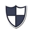 single shield icon vector image