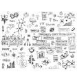 social network doodles - hand drawn set media vector image