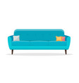 sofas with pillow vector image