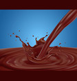 splash brownish vector image