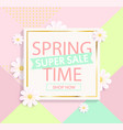 Spring sale geometric background