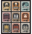 stamps on beer and brewery vector image vector image