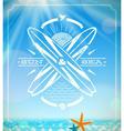 Surfing grunge vintage emblem vector image vector image