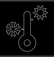 thermometer the white path icon vector image