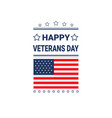 veterans day celebration national american holiday vector image vector image