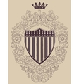 Vintage frame with American shield vector image vector image
