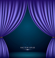 Violet theater curtain background vector image vector image