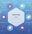 weather infographics weather icons clouds sun rain vector image