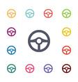 wheel flat icons set vector image