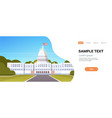 white house washington dc united states of america vector image