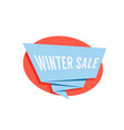 winter sale color label isolated on white vector image