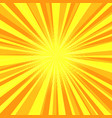 yellow sun rays pop art background vector image