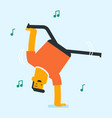 young caucasian white man dancing vector image vector image