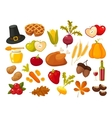 Symbols of thanksgiging day and family traditions vector image