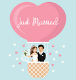 cartoon of the bride and groom vector image