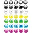 music buttons icons vector image