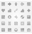 Recording studio icons set vector image