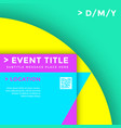 abstract minimal design template vector image