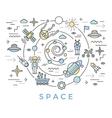 Space Line Art vector image