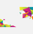 abstract 3d crystal colorful geometric shape vector image