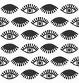 abstract black feminine eyes with lashes pattern vector image vector image