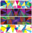 Abstract triangles banner vector image vector image