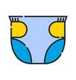 baby diapers icon design clip art color icon vector image