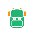 backpack icon design template isolated vector image