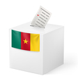 Ballot box with voting paper Cameroon vector image vector image